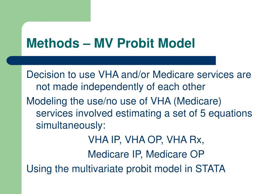 Methods – MV Probit Model