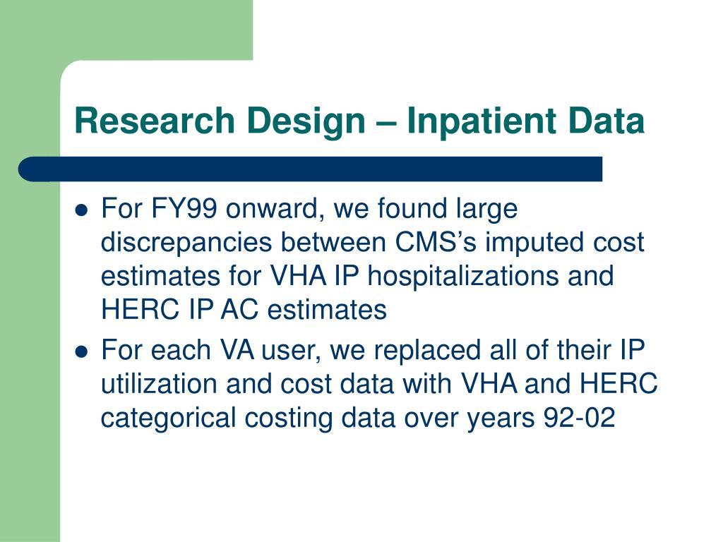 Research Design – Inpatient Data