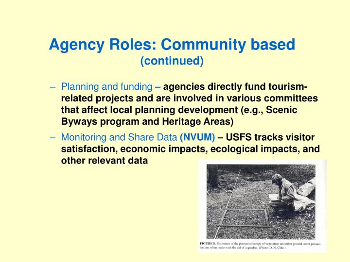 Agency Roles: Community based