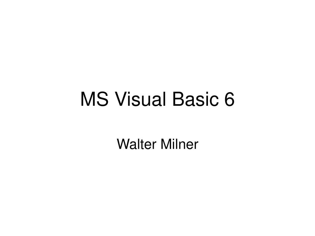 ms visual basic 6