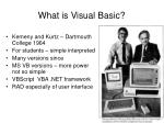 what is visual basic