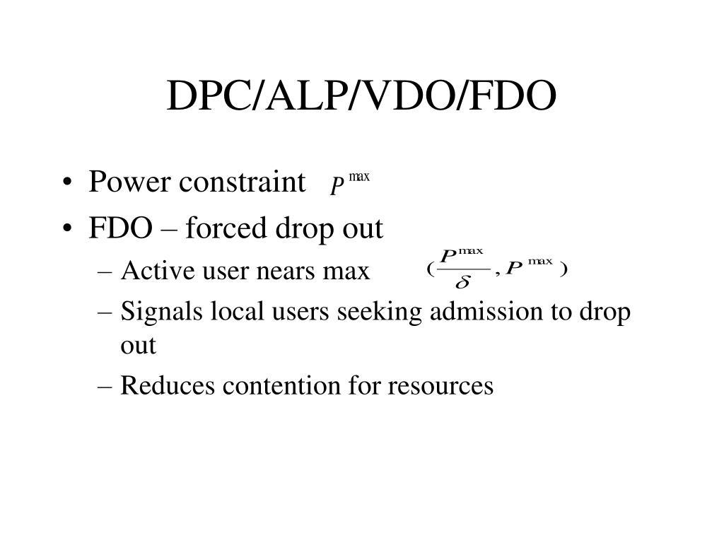 DPC/ALP/VDO/FDO