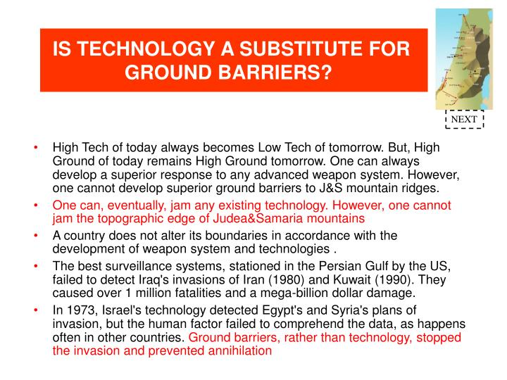 IS TECHNOLOGY A SUBSTITUTE FOR GROUND BARRIERS?