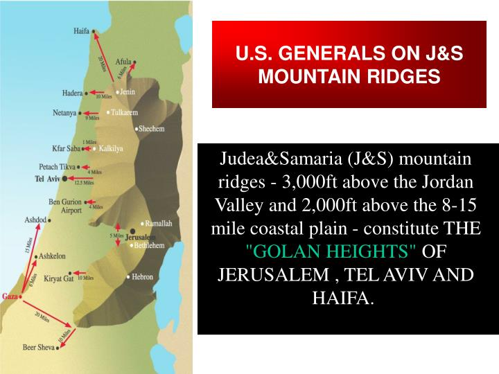 U.S. GENERALS ON J&S MOUNTAIN RIDGES