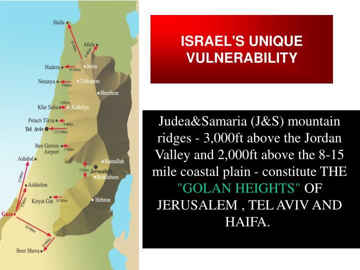 ISRAEL'S UNIQUE VULNERABILITY