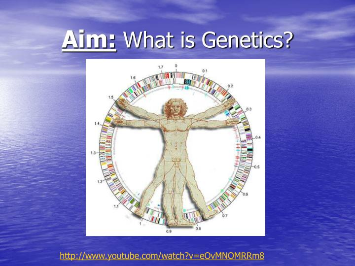 Aim what is genetics