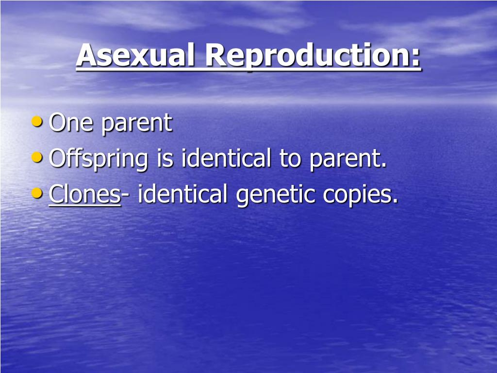 Asexual Reproduction: