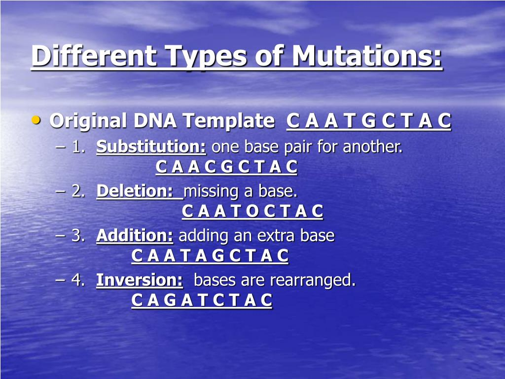 Different Types of Mutations: