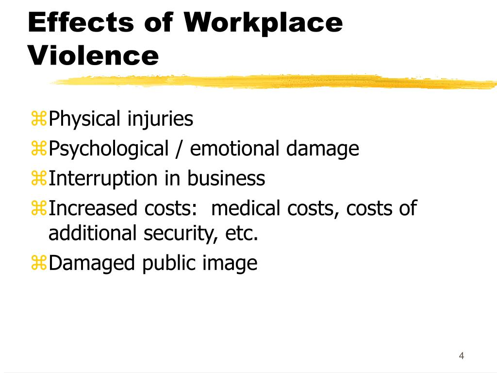 Effects of Workplace Violence