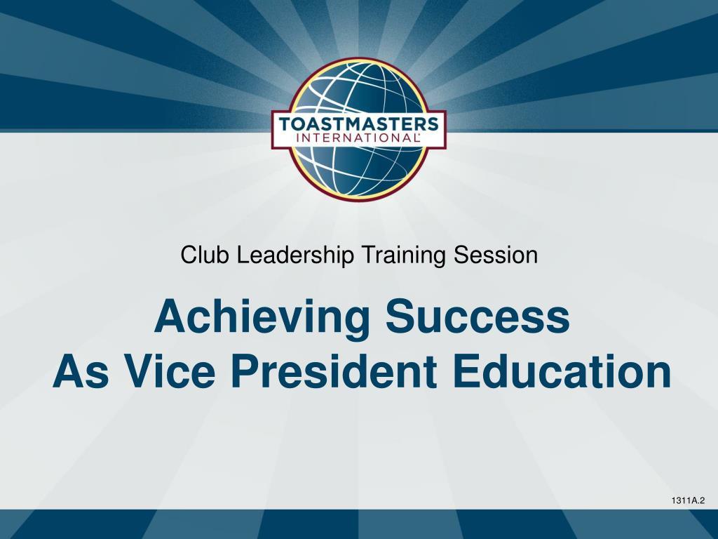 Club Leadership Training Session