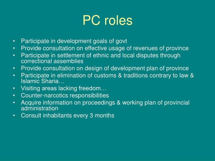 PC roles