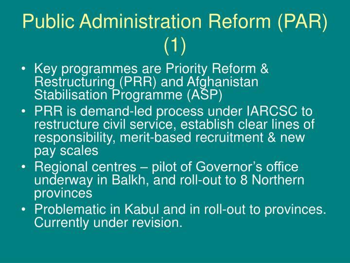 Public Administration Reform (PAR) (1)