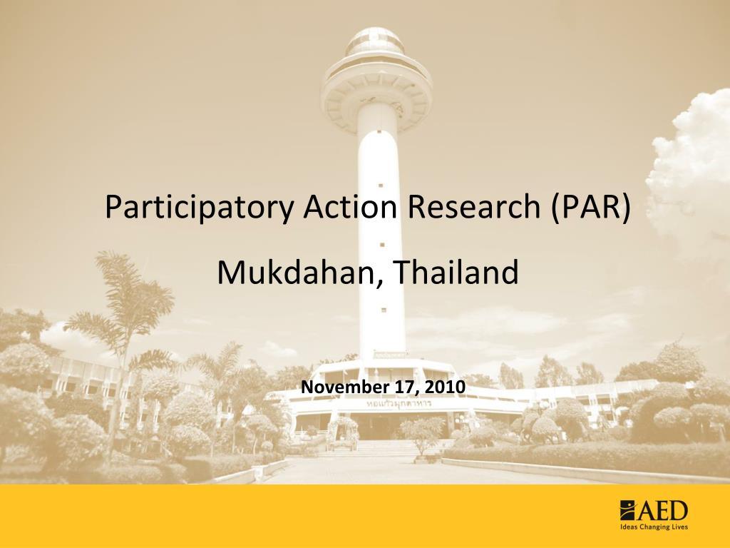 participatory action research par mukdahan thailand