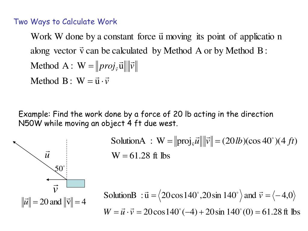 Two Ways to Calculate Work