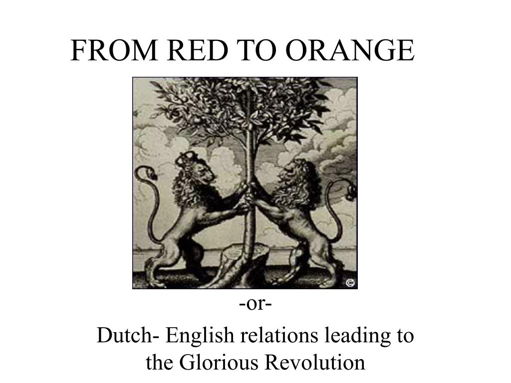 from red to orange