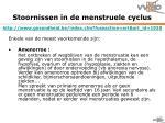 stoornissen in de menstruele cyclus