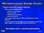 microprocessor design scope