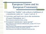 european union and its european community