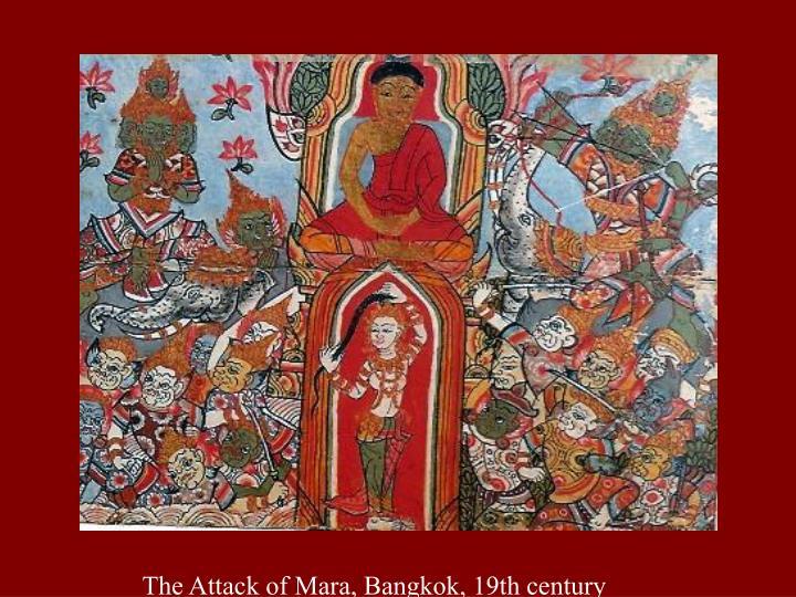 The Attack of Mara, Bangkok, 19th century