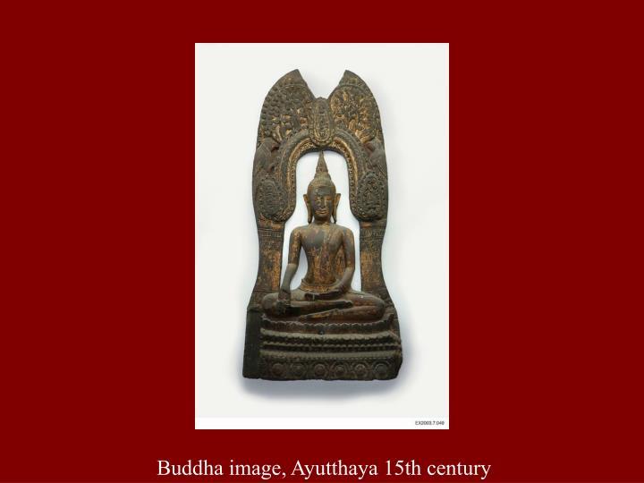 Buddha image, Ayutthaya 15th century