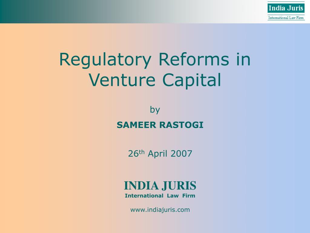 regulatory reforms in venture capital