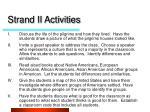 strand ii activities