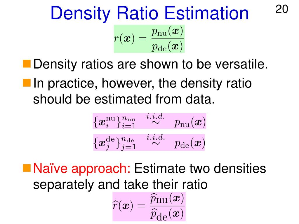 Density Ratio Estimation