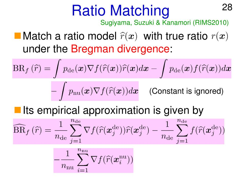 Ratio Matching
