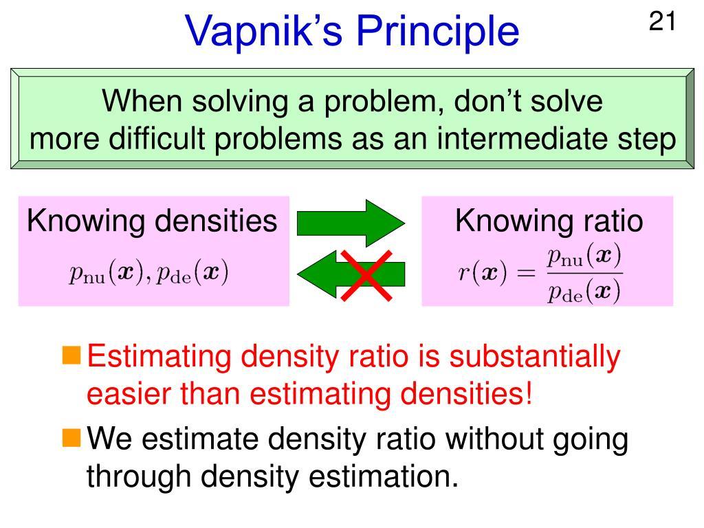 Vapnik's Principle