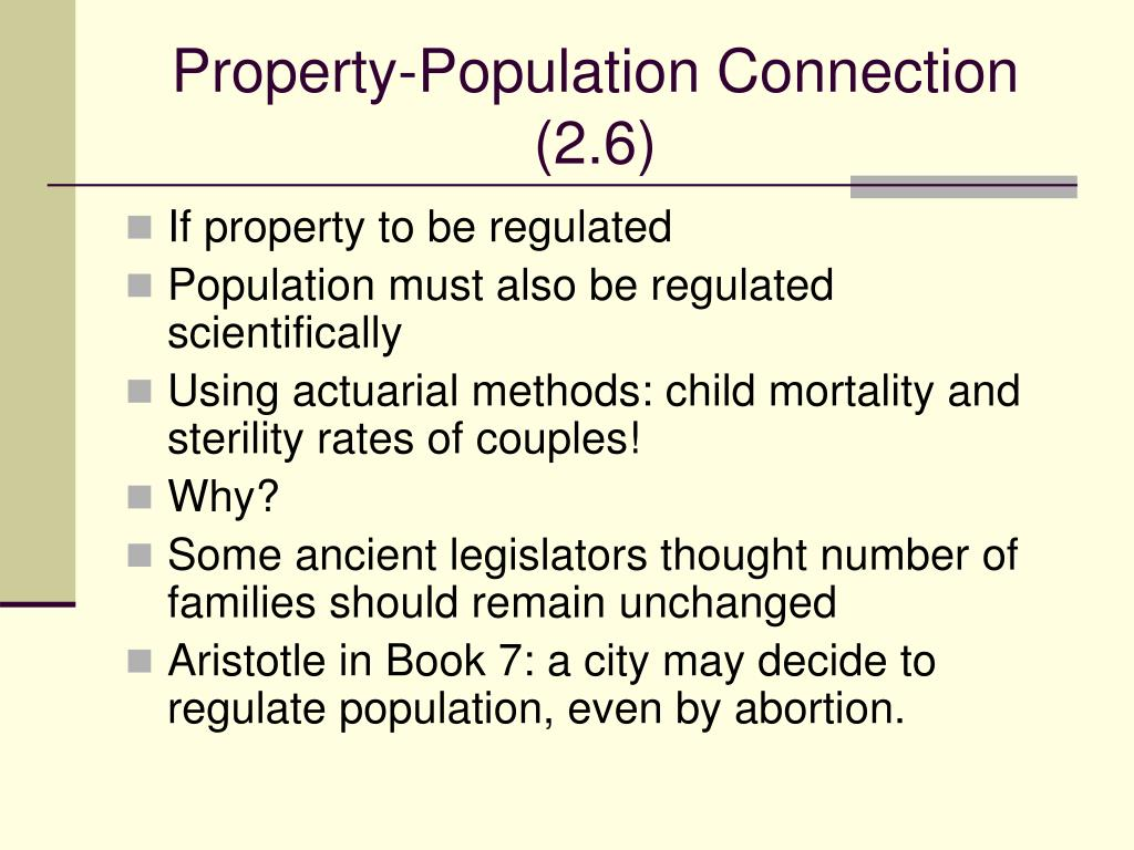 Property-Population Connection (2.6)