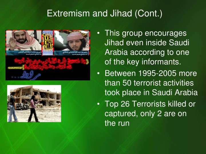 Extremism and Jihad (Cont.)