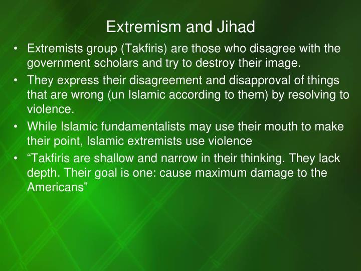 Extremism and Jihad