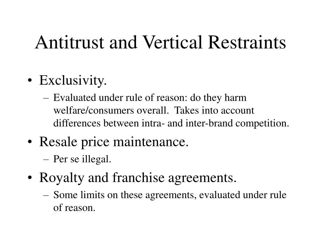 Antitrust and Vertical Restraints