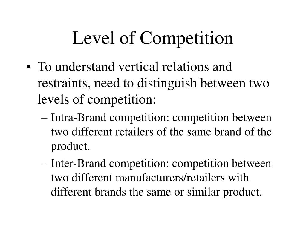 Level of Competition