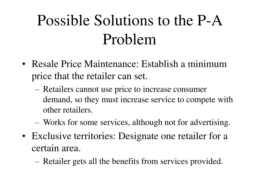 Possible Solutions to the P-A Problem