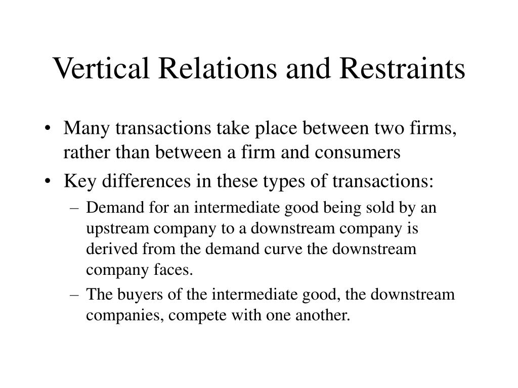 Vertical Relations and Restraints