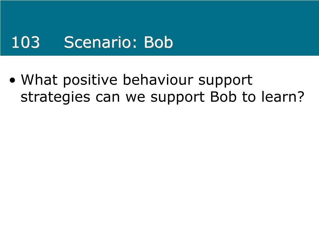 103Scenario: Bob