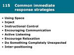 115 common immediate response strategies