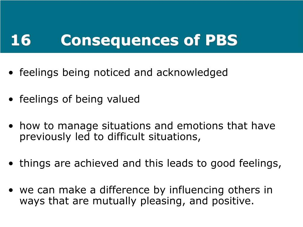 16Consequences of PBS
