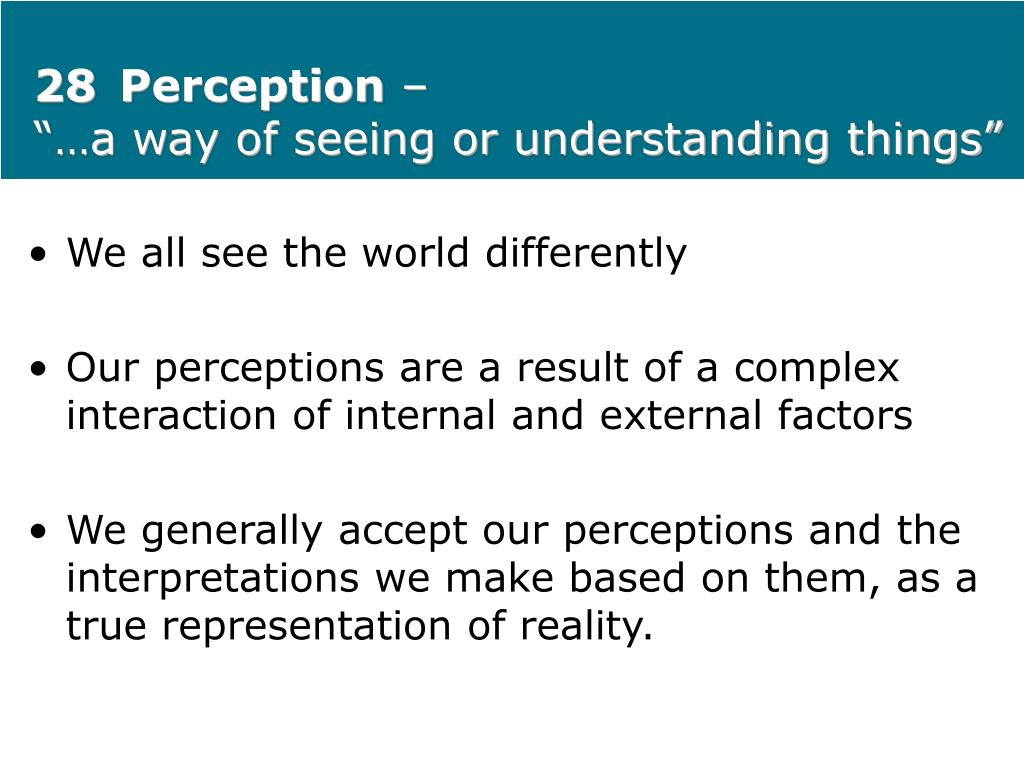 28Perception