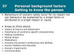 37 personal background factors getting to know the person