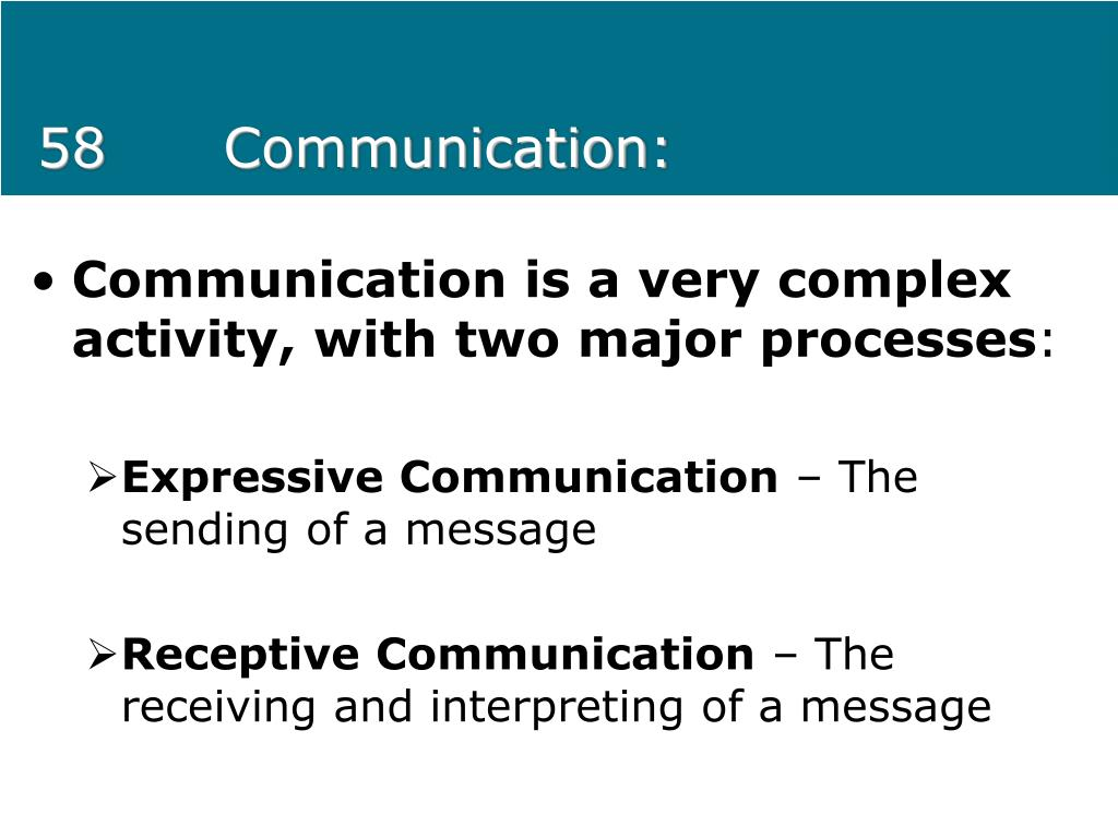 58Communication: