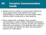 59 complex communication needs