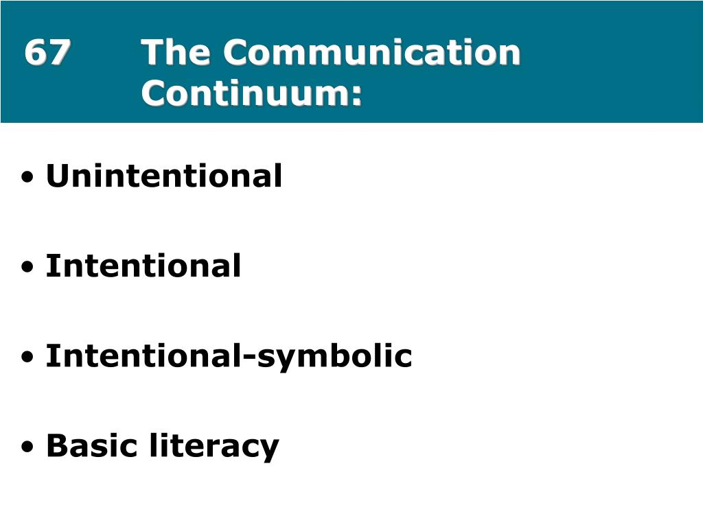 67The Communication Continuum: