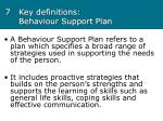7 key definitions behaviour support plan