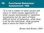 78 functional behaviour assessment fba