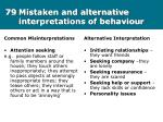 79 mistaken and alternative interpretations of behaviour
