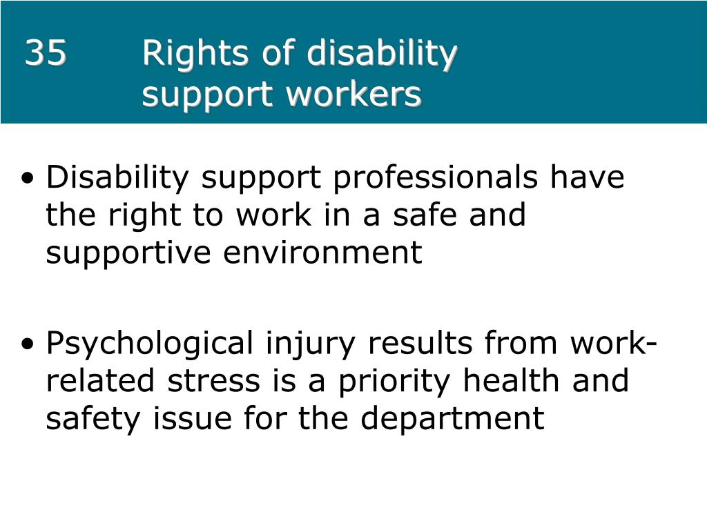 Rights of disability