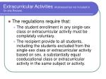 extracurricular activities addressed but not included in on site review