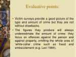 evaluative points